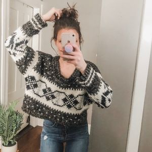 Free People Chunky Nordic Gypsy Spell Sweater a5